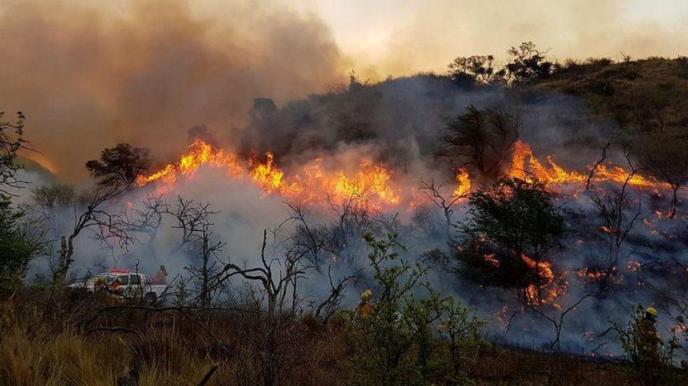 Incendios intencionales en las sierras cordobesas. (Foto: Gobierno de Córdoba).