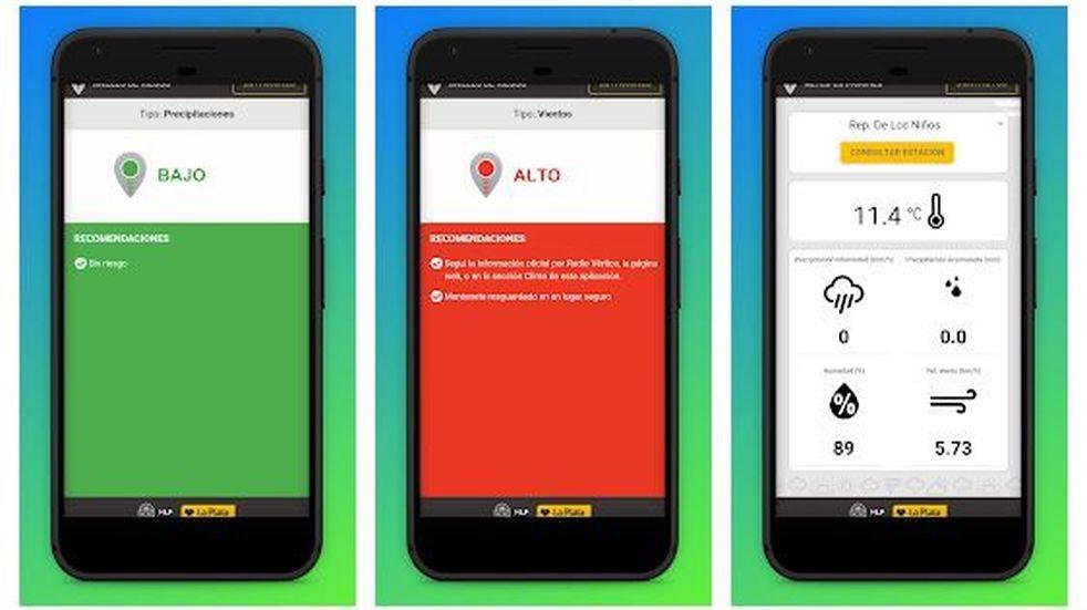 Nueva app para saber cuánto llueve en cada barrio de La Plata en tiempo real