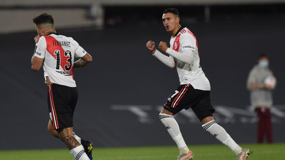 Liga Profesional: River derrotó a Vélez por 2-0 a cuatro días de la vuelta de la Copa Libertadores