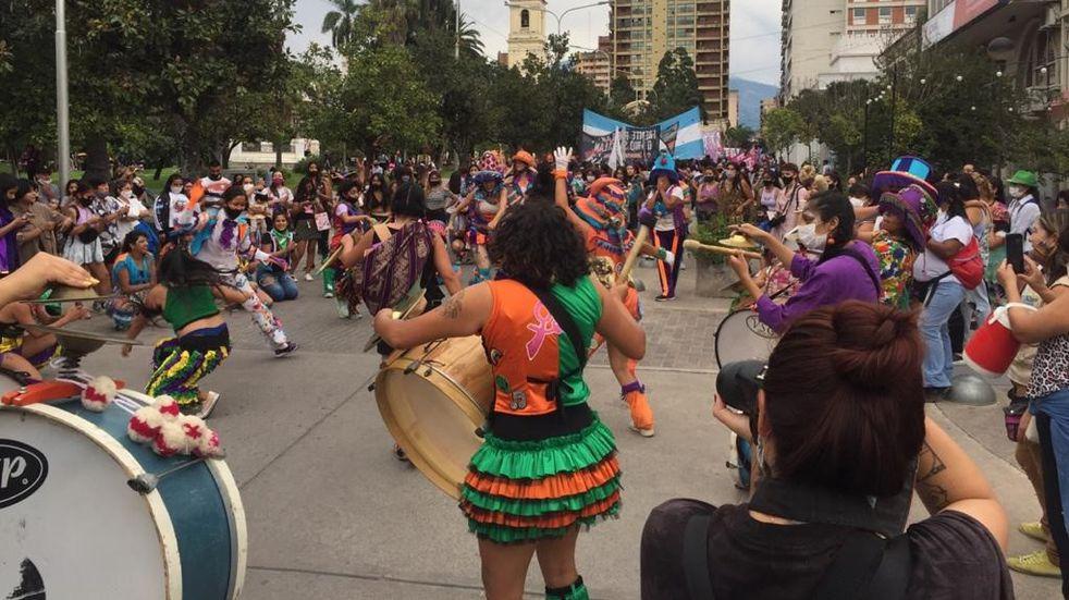Marchando por sus derechos, también en Jujuy las mujeres hicieron escuchar su voz