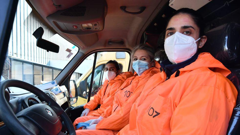 Por primera vez, el 107 cordobés tendrá una tripulación íntegramente femenina