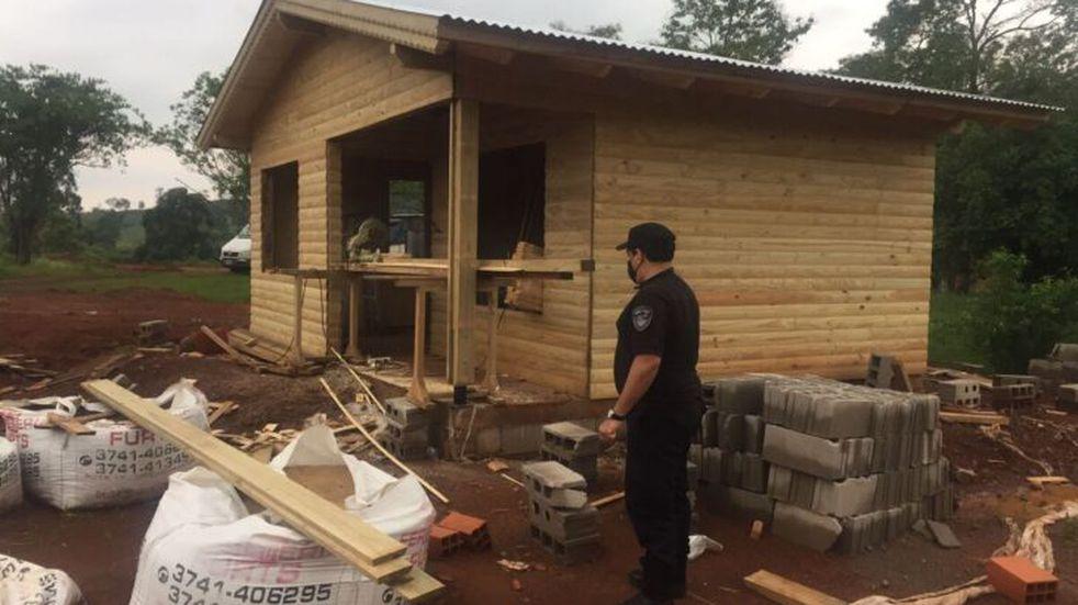 Pozo Azul: avanza la construcción del nuevo destacamento policial