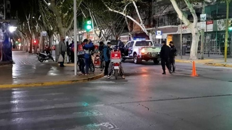 El choque se produjo en la esquina de Santa Fe y General Acha.