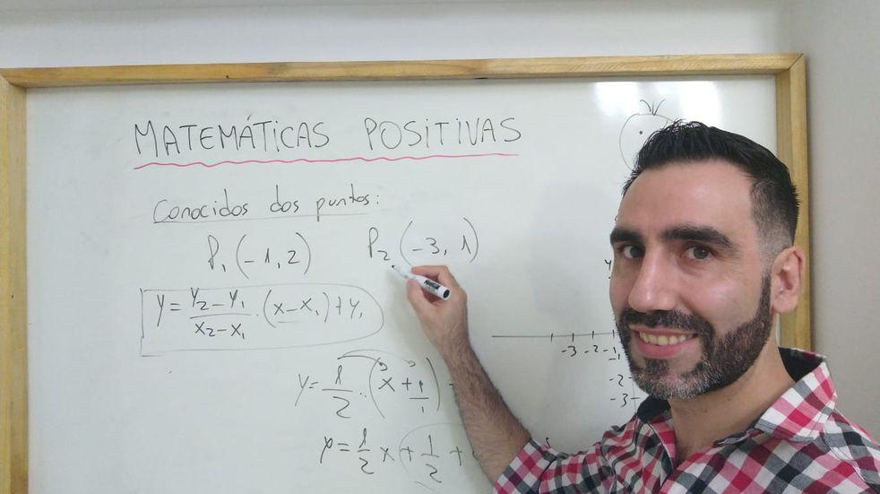 Un profesor de matemáticas se convirtió en youtuber para ayudar a sus alumnos