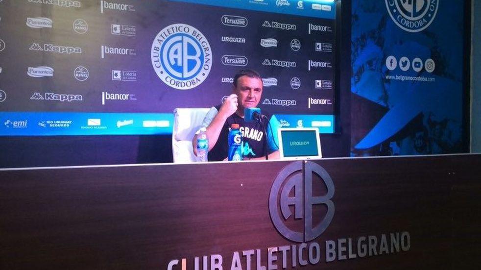 """Para Diego Osella el empate de Belgrano vale """"por lo que es el rival"""""""