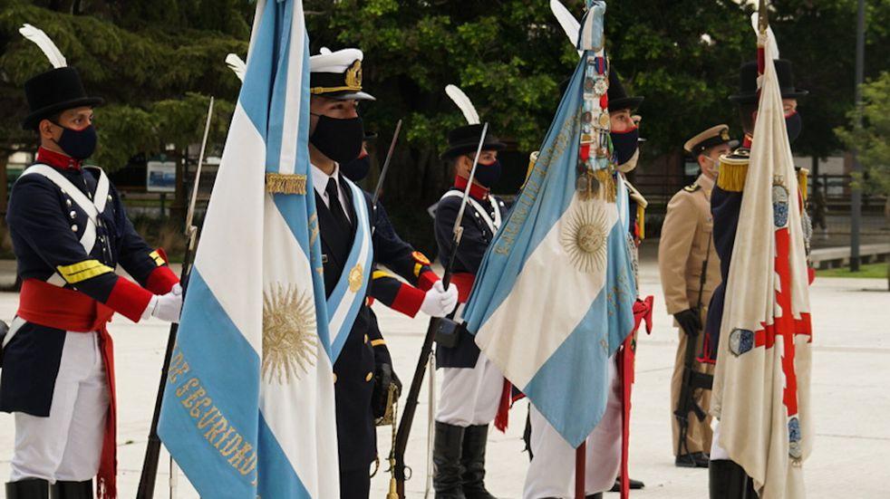 Con visiones diferentes, argentinos y británicos conmemoraron el 14 de junio