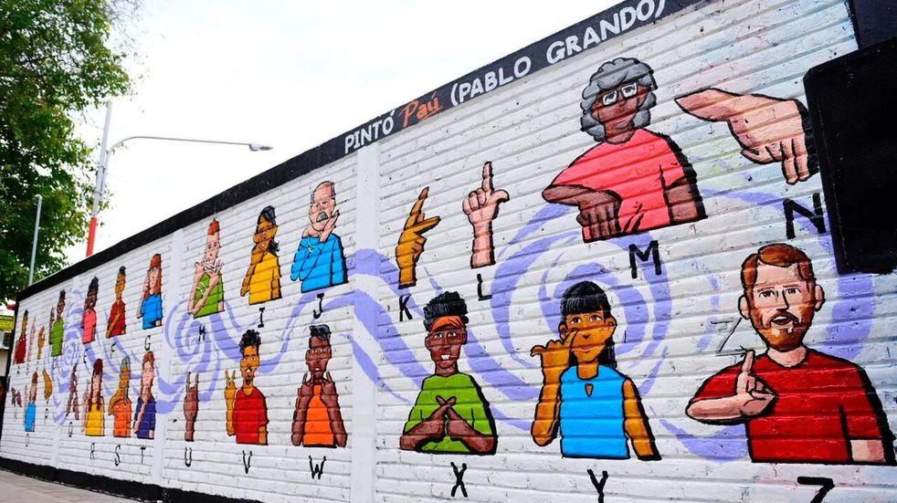 Mural inclusivo en Rivadavia, Mendoza