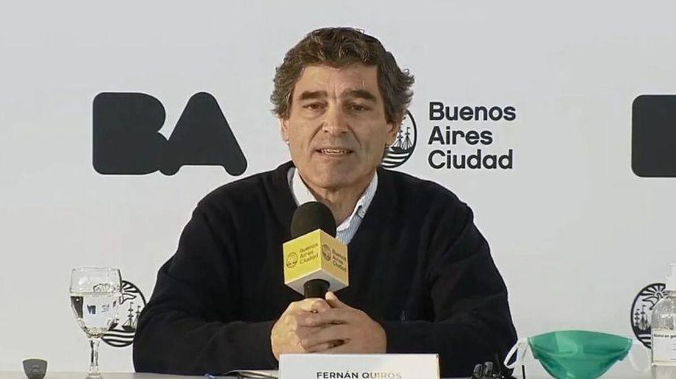 """Fernán Quirós comunicó que los """"casos están bajando"""" en la Ciudad, aunque pidió """"intensificar los cuidados"""" para bajar la curva"""