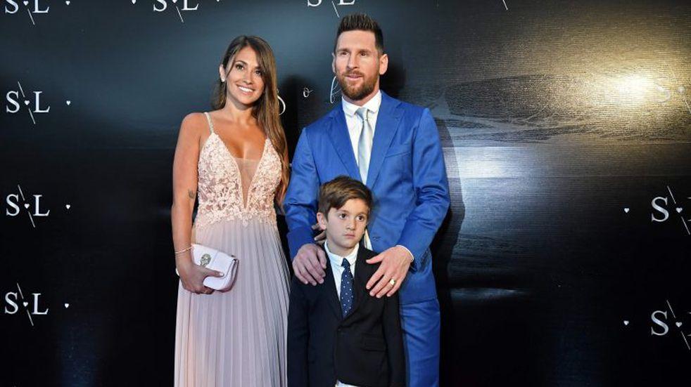 Las fotos de Lionel Messi y Antonela Roccuzzo en el casamiento de Luis Suárez