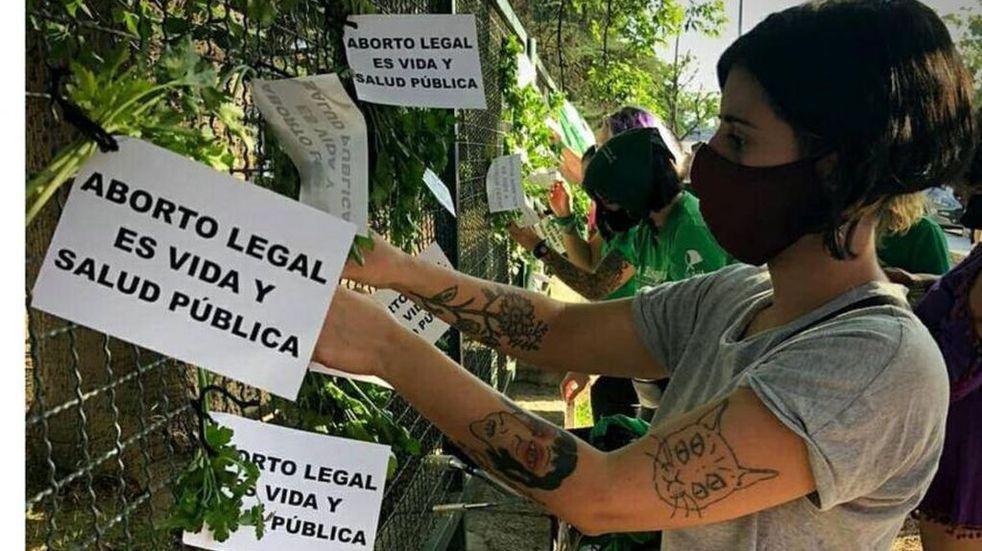 ABORTO LEGAL. Una de las acciones en Córdoba durante 2020 en favor de la aprobación de la ley de IVE.