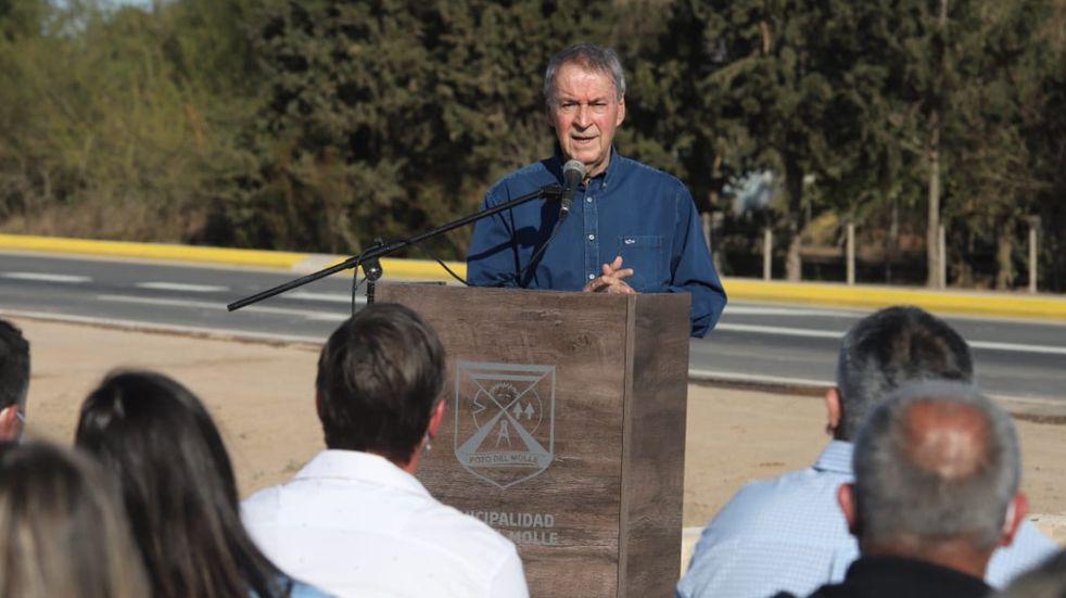 El gobernador Schiaretti, durante el discurso que dio este viernes en Pozo del Molle con reclamos al Gobierno Nacional (Gobierno de Córdoba).