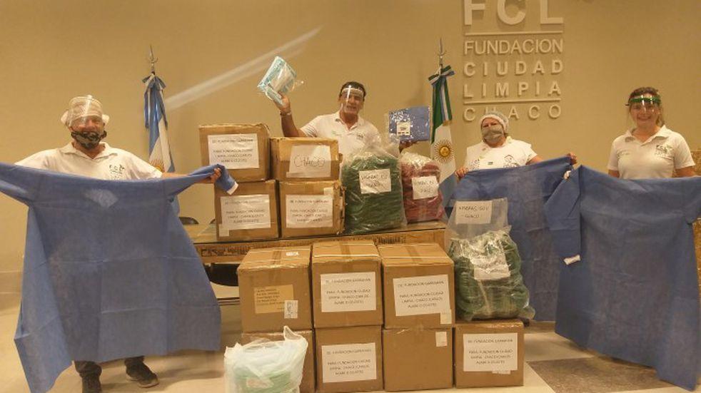 La Fundación Garrahan donó a Chaco elementos de protección para enfrentar el coronavirus