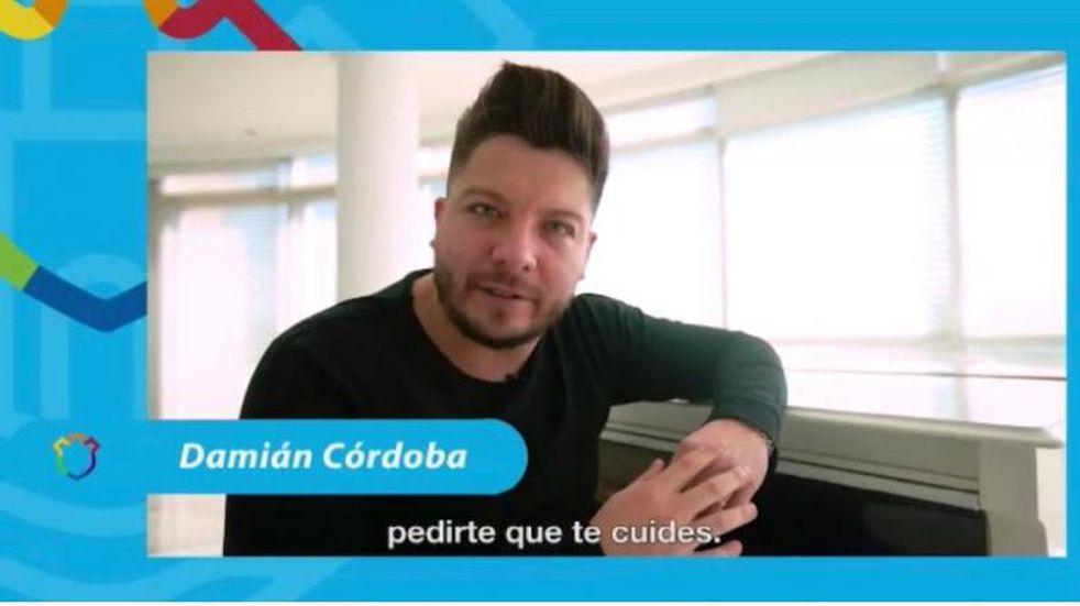 Damián Córdoba, del mensaje para concientizar por el COVID-19 a cantar contra las restricciones