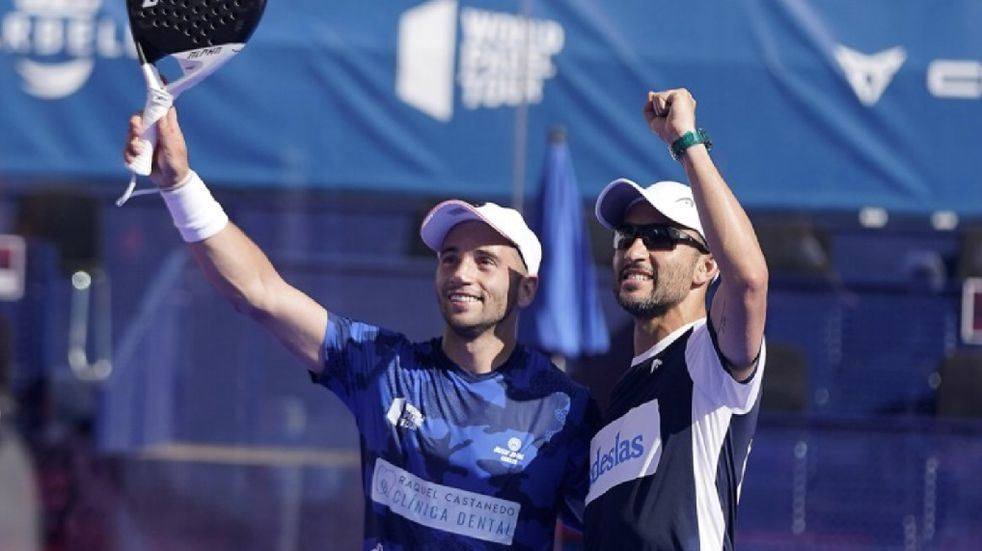 Pádel: Agustín Gutiérrez se quedó con el duelo entre puntanos en el Máster de Marbella
