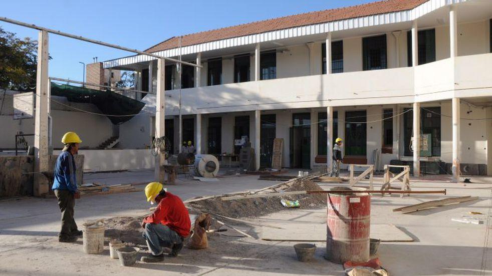 Está avanzada la construcción del Centro de Salud de Vista Flores
