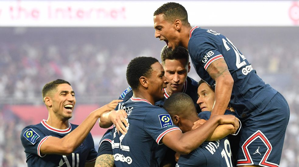 Ligue 1: con un golazo de Di María, PSG le ganó 4-2 al Brest sin Messi ni Neymar