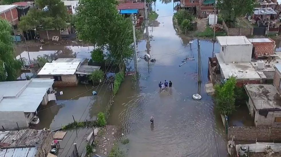 20 mil afectados por el temporal en La Matanza.