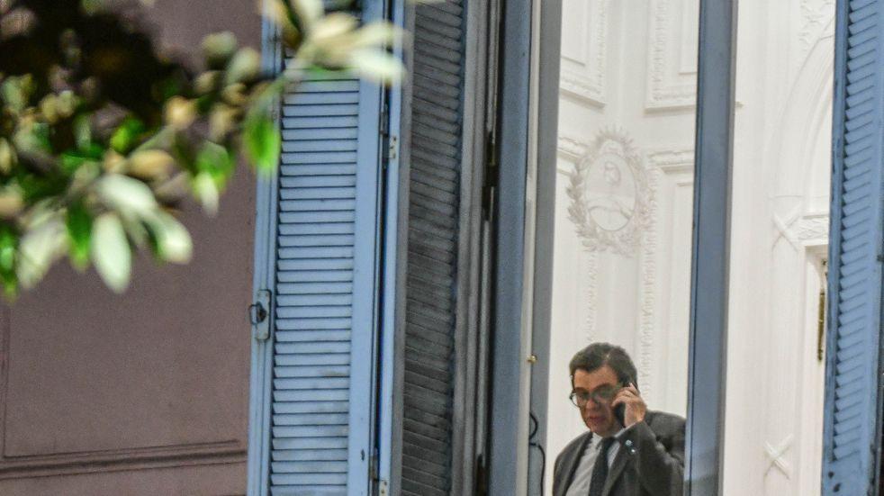 Claudio Moroni en Casa Rosada (Foto: Federico López Claro)