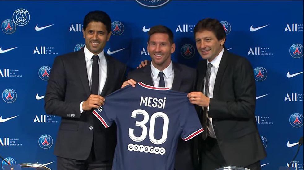 """Leo Messi fue presentado como flamante jugador del PSG y adelantó que quiere """"ganar otra Champions"""""""