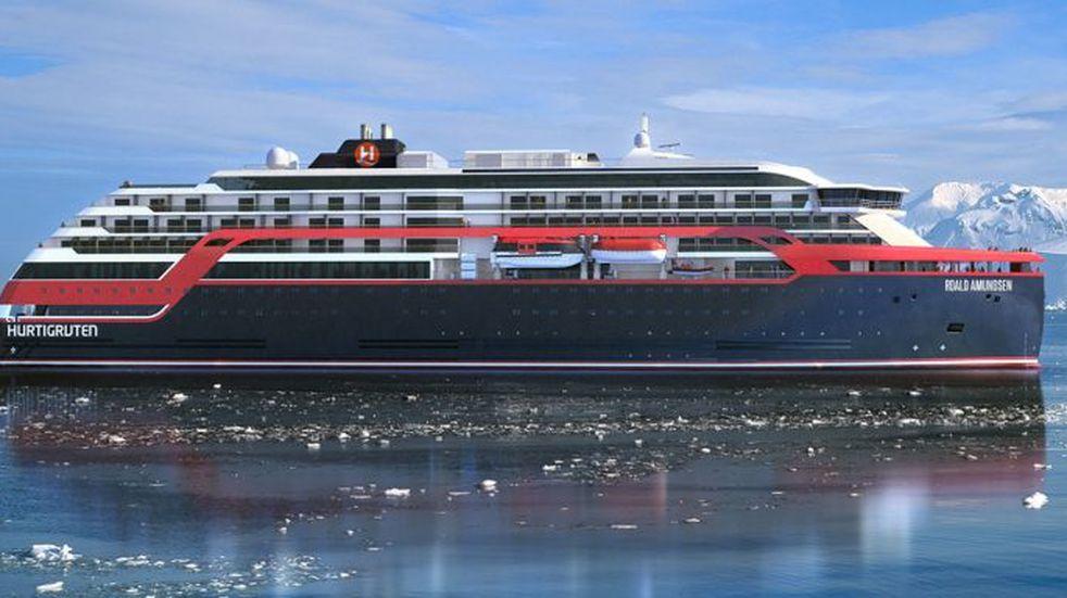 Evacuaron a dos pasajeras de un crucero noruego en el puerto de Ushuaia