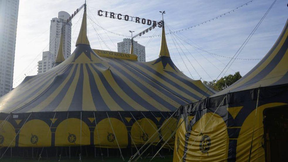 Mudaron la carpa del circo Rodas para montar un centro de test de coronavirus