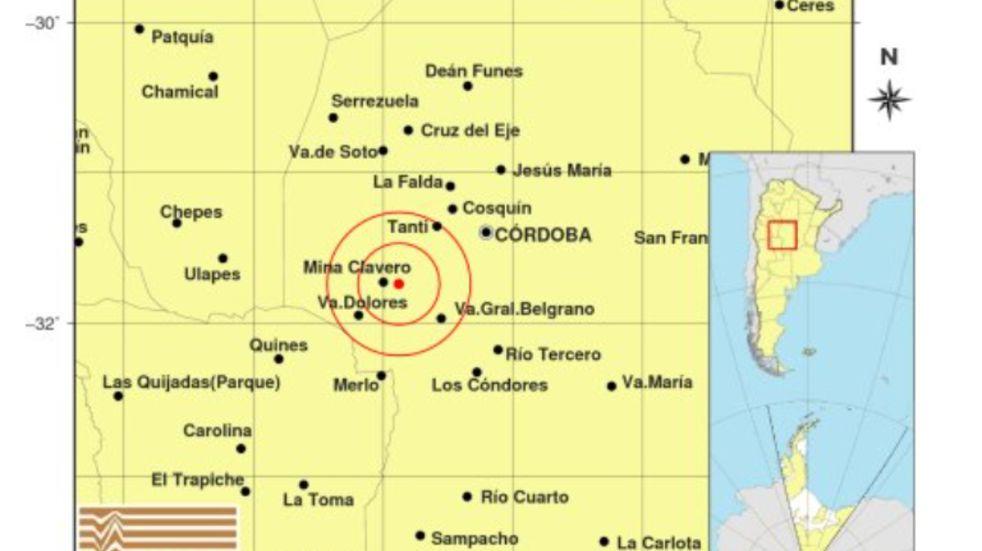 Un sismo de 3.3° se registró en las sierras de Córdoba