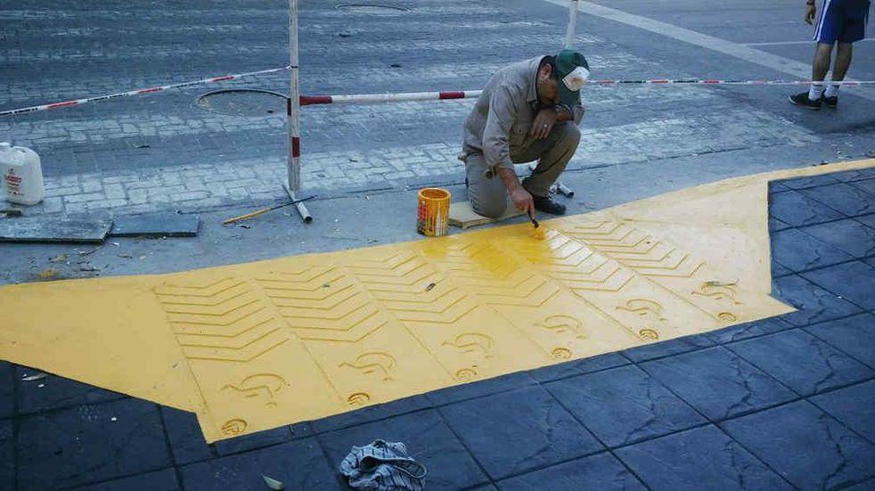 Obras en Tandil: realizan nuevas rampas en las calles de la ciudad