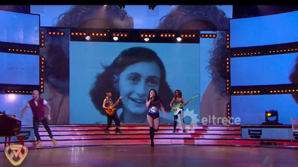 Polémica en Showmatch por el uso de una foto de Ana Frank