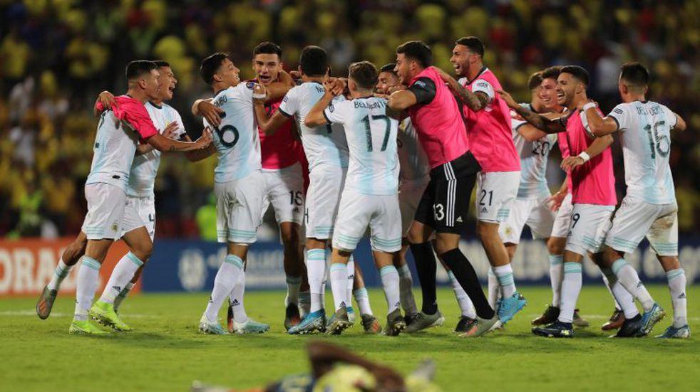 Preolímpico Sub 23: la locura de la Selección Argentina en los festejos por la clasificación