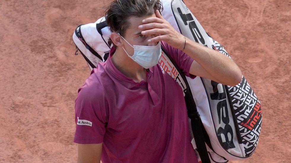 Cayó el primer peso pesado de Roland Garros: Dominic Thiem perdió en primera ronda