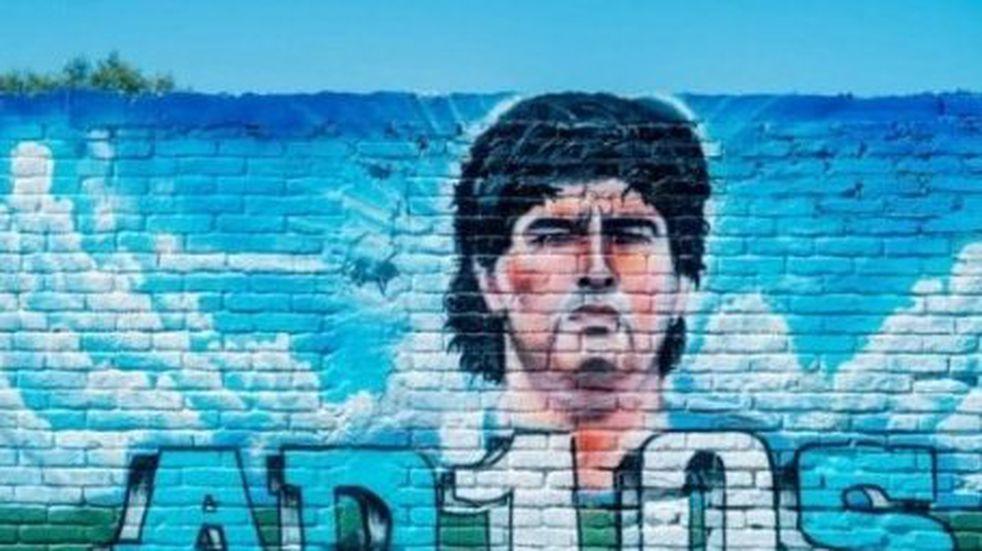 El mural sanjuanino y el fake de Pachu Peña que ahora es tendencia en Twitter
