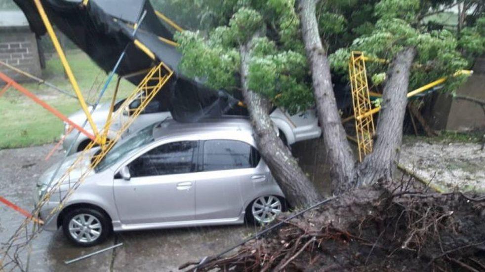 Un temporal causó daños en Traslasierra