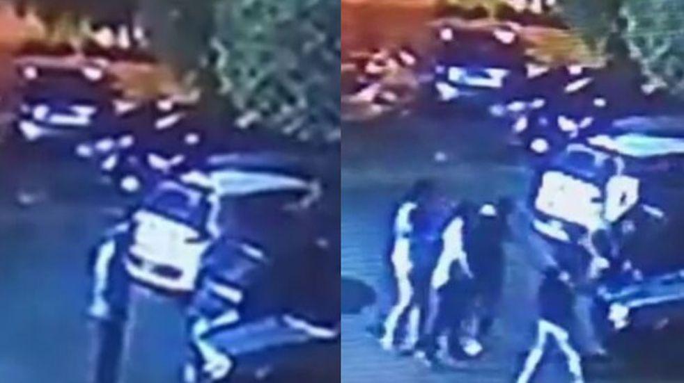 La violenta agresión de una patota de rugbiers en City Bell, que dejó inconsciente a un joven.