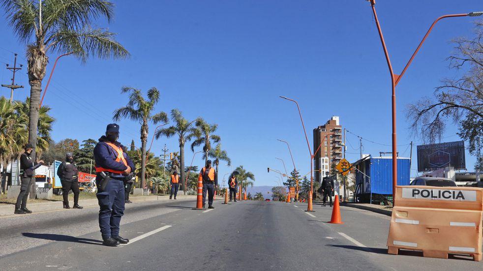 Durante todo el fin de semana se realizaron controles en distintos puntos de la Ciudad