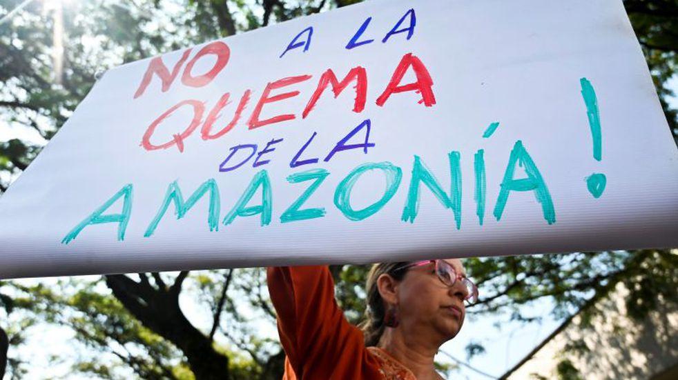 Protestas en todo el mundo contra Jair Bolsonaro por los incendios en el Amazonas