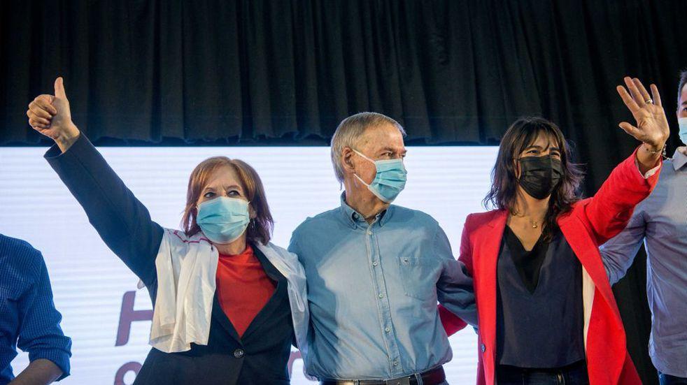 Juan Schiaretti en campaña: en Río Cuarto reiteró que es tiempo de ellas