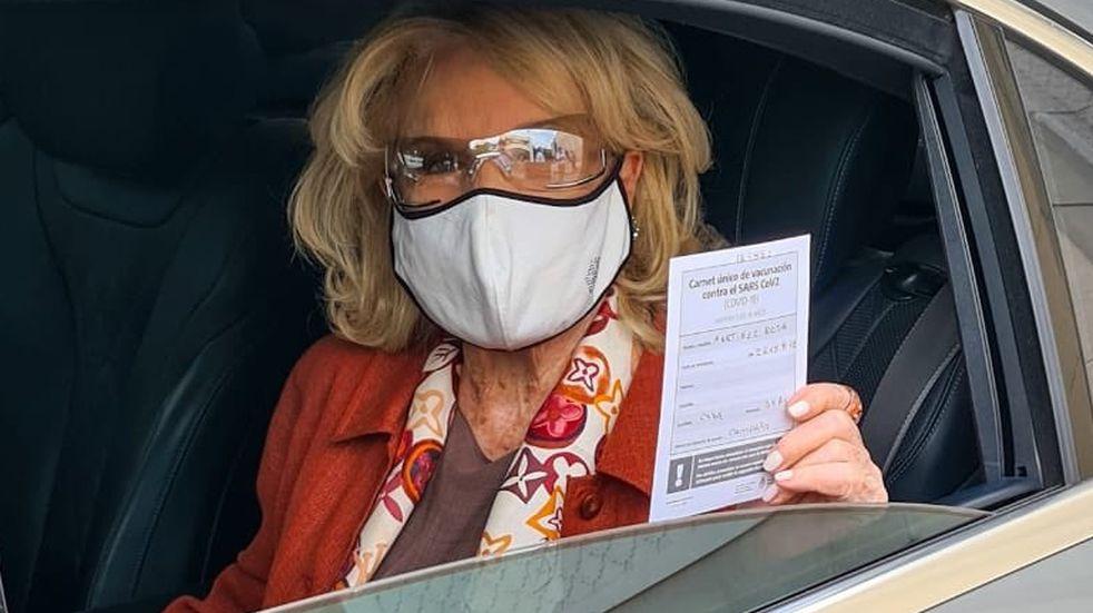 Mirtha Legrand recibió la segunda dosis de la vacuna Sputnik V