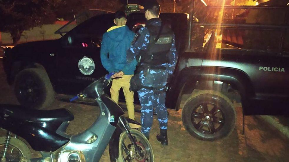 Recuperan moto robada en barrio Nuevo Iguazú