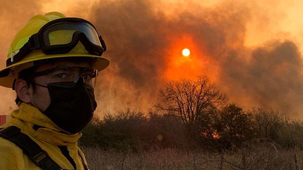 Incendio en la zona de Malagueño: tendrían identificado al responsable