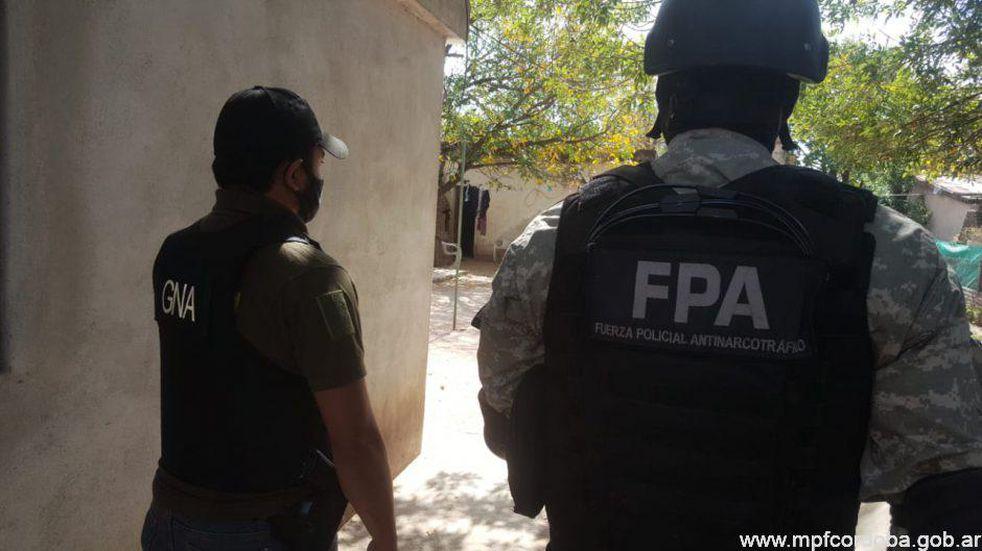Gendarmería y la Policía Antinarcotráfico desplegaron operativo por drogas en Córdoba