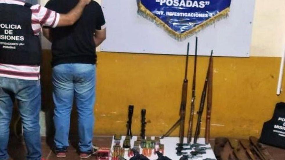 Incautan en Posadas un arsenal con armamento robado en noviembre