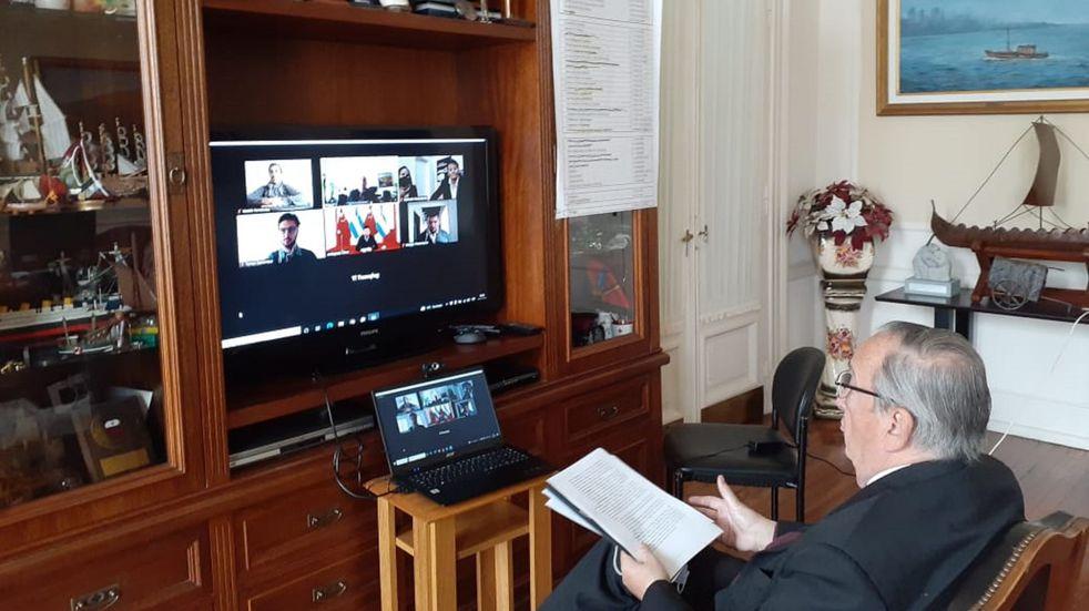 Economía en Tandil: el embajador de China en Argentina se reunió con el intendente Miguel Lunghi
