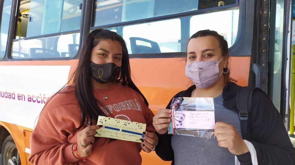 Intervención por el Día de los y las estudiantes en el transporte público