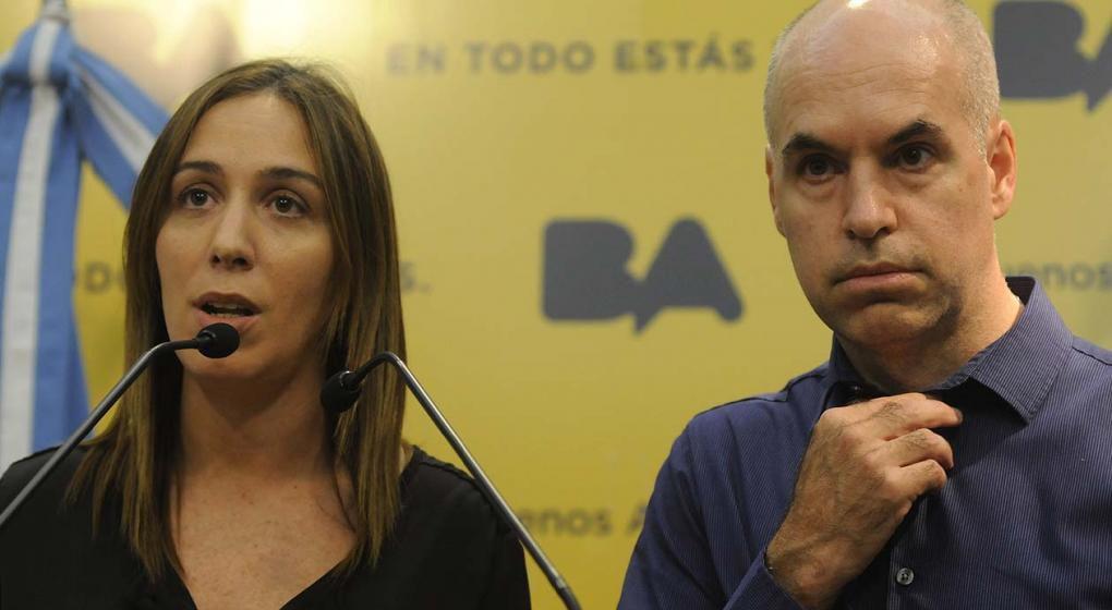 María Eugenia Vidal, ex gobernadora de Buenos Aires, y Rodríguez Larreta, jefe de Gobierno de la CABA (La Voz/Archivo).