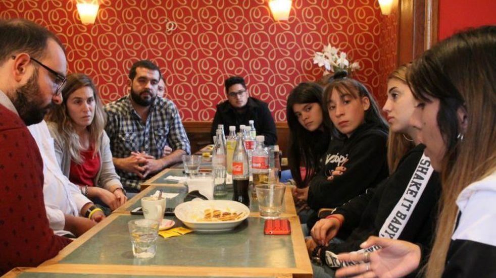 López y la Juventud del FR recibieron a Giaccone
