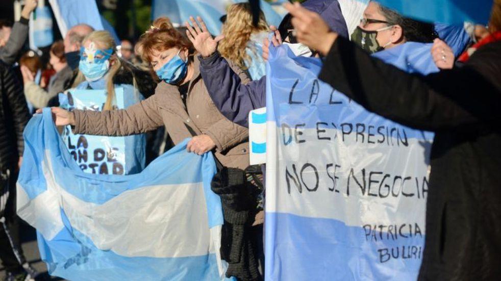 Banderazo contra el Gobierno: las mejores fotos en el Obelisco