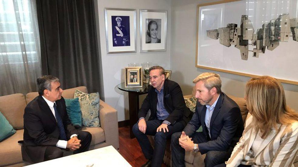 Alfaro se reunió con Pichetto y Frigerio