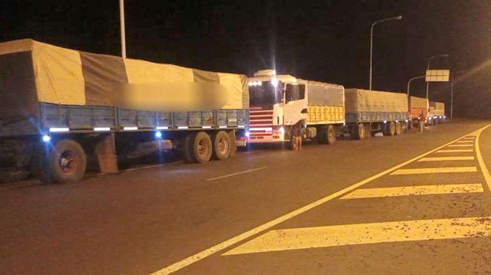 Contrabando de soja: detienen a otros cinco camiones en el ingreso a Misiones