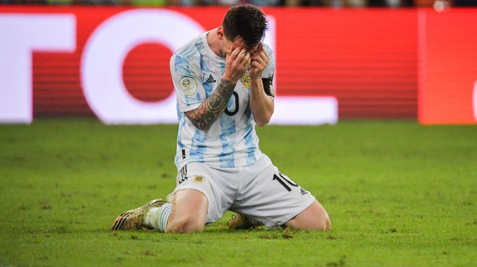 El llanto de Lionel Messi tras consagrarse campeón de la Copa América con la Selección Argentina