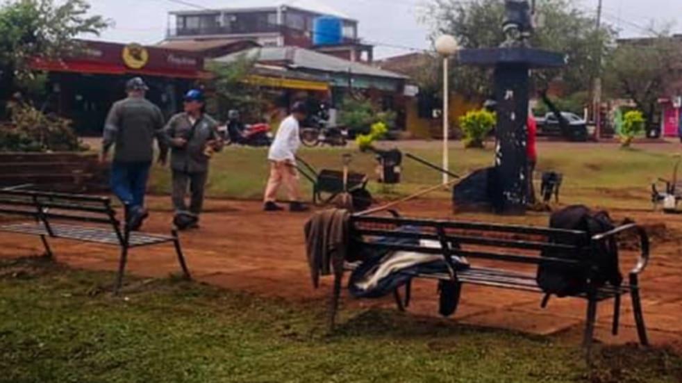 La Plaza de los Niños se encuentra en obras y mantenimiento en Puerto Iguazú